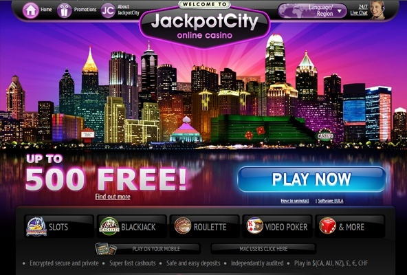Jackpotcity Casino screenshot
